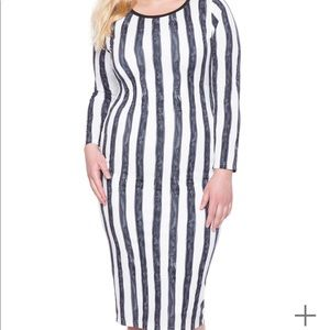 Eloquii Striped Midi Dress